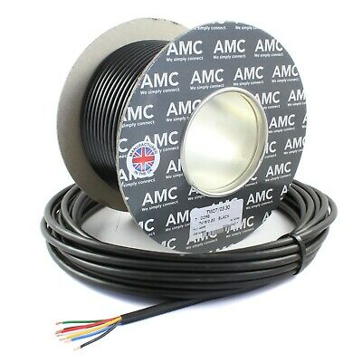 AU57.12 • Buy 30M Roll Of 7 Core Trailer-Caravan-LED Lights Wire Cable - Rated To 11 AMPS