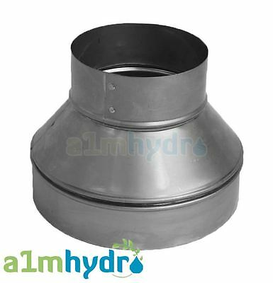 Metal Extraction Fan Ducting Ventilation Pipe Reducer Hydroponics • 15.99£