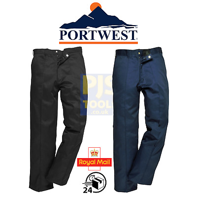 £13 • Buy Portwest 2885 Preston Mens Work Trousers Drivers Navy Or Black **Free Postage**
