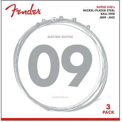 $ CDN13.10 • Buy 3-SETS Of Fender 250L Super 250 Nickel-Plated Steel Light Electric Guitar String