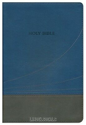 AU30.14 • Buy The Holy Bible King James Version KJV Thinline Slate & Blue, Large Print