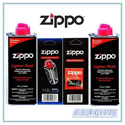 $8.95 • Buy Zippo 2 X 4oz Fuel Fluid And 1 Flint & 1 Wick Value Pack GIft Set Combo