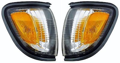 $21.40 • Buy 2001 2002 2003 2004 For Ty Tacoma Corner Lamp Light (gray) Left And Right Pair