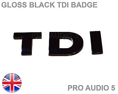 Gloss Black Tdi Badge - Turbo Diesel Car Van  Boot - Uk Fast Post • 3.99£