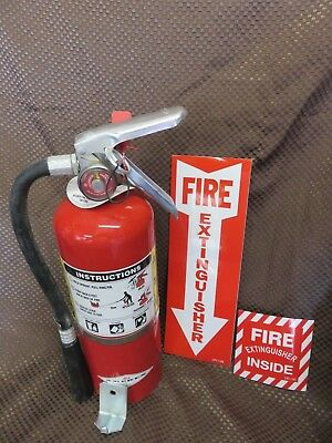 $47.99 • Buy 1-5lb. ABC FIRE EXTINGUISHER  WNEW 2020 CERTIFICATION TAG WALL HOOK-2-SIGNS