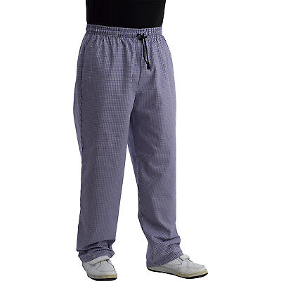 £15.99 • Buy Unisex Polycotton Chefs Trousers Blue White Checked Cooks Restaurant Workwear