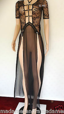 £12.50 • Buy See Through Negligee Long Gown Babydoll Daring Sheer Chemise Nightdress Lingerie