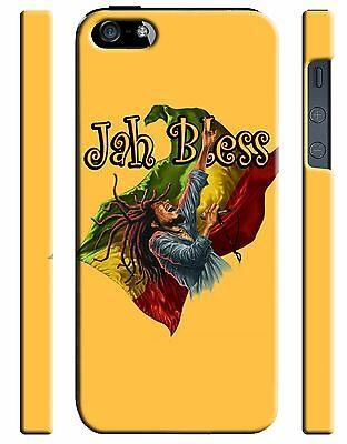 £9.20 • Buy Jamaica Flag Jah Bless Bob Marley IPhone 5S 6 6S 7 + 12 Pro Max Plus Case Cover
