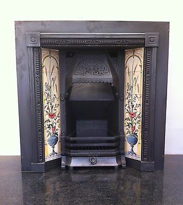 Antique Style Cast Iron Victorian Tiled Insert Fireplace Convector Box (PK263) • 850£