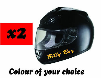 Personalised Motorcycle Motorbike Bike Crash Helmet  Names Sticker Decals  • 2.70£