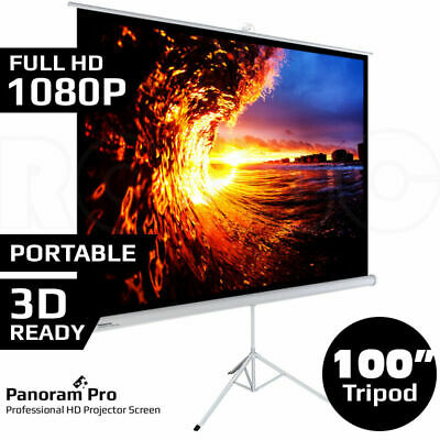 AU105.95 • Buy 100  Inch Portable Tripod Projector Screen Conference Presentation HD Projection