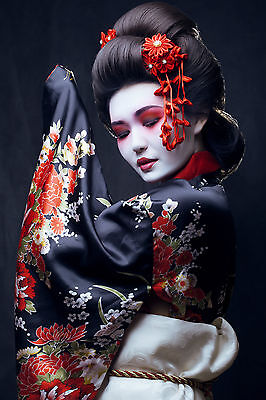 Stunning Japanese Geisha Canvas #797 Japan Wall Hanging Home Decor Art Picture • 29.99£