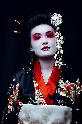 Stunning Japanese Geisha Canvas #799 Quality Canvas Wall Hanging Picture Art A1 • 26.99£