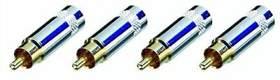£8.15 • Buy 4 Pack Neutrik Rean NYS352G RCA Cable Connector Plug In Gold Large Nickel Handle