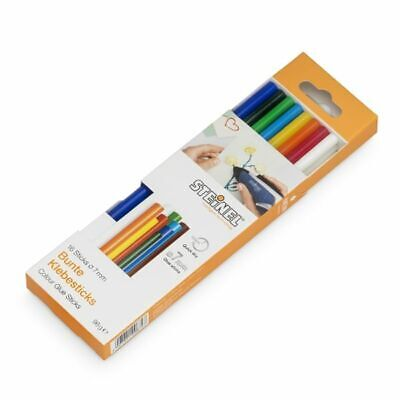 AU9.35 • Buy STOCK CLEARANCE Steinel 7mm Coloured Glue Sticks 150mm 16 Pk