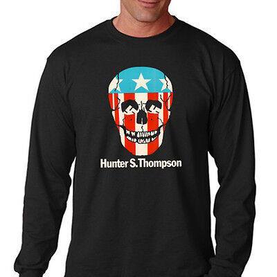 $22.49 • Buy Hunter S Thompson Gonzo Skull Logo Men's Long Sleeve Black T-Shirt Size S To 3XL