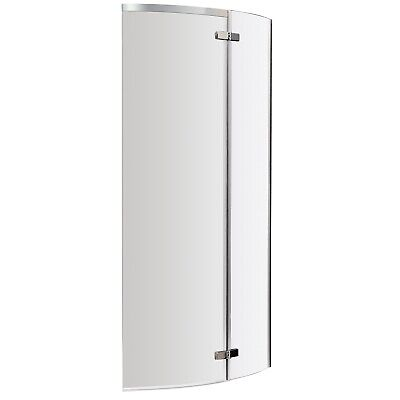 £78.95 • Buy Nuie Ella Curved P-Shaped Shower Bath Screen 1400mm H X 740mm W - 5mm Glass