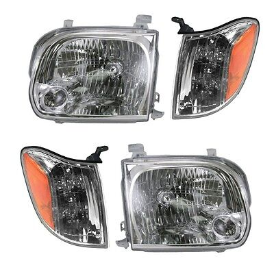 $182 • Buy 2005 2006 2007 For Ty Sequoia Headlights And Corner Lamps Lights Combo