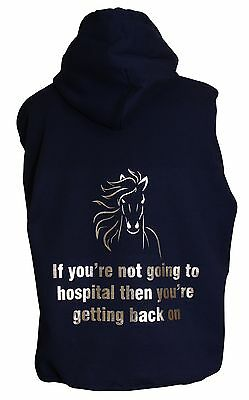 Personalised Horse Pony Funny Saying Phrase Hospital Hoodie Or Zoodie • 16.99£