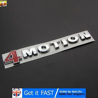 4Motion For VW Badge Emblem Logo Chrome ABS Sticker Passat Touareg Golf Polo • 10.70£