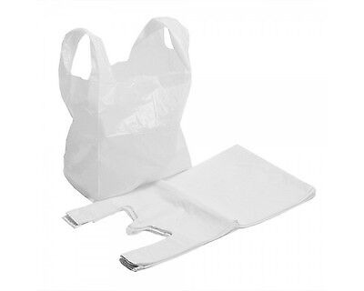 Strong White Plastic Carrier Bags 16 X24 X29  Extra Large Big Bull Giant 25mu • 7.88£