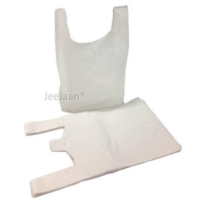 Strong White Plastic Vest Carrier Bags 13 X19 X23  Extra Large Supermarket Bags • 6.85£