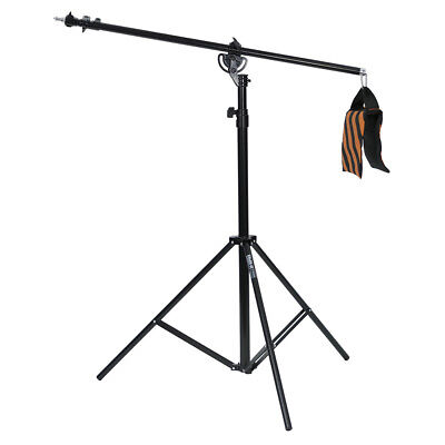 Phot-R 4m Heavy Duty Photo Studio 2in1 Combi Rotatable Boom Arm Light Stand Kit • 49.99£