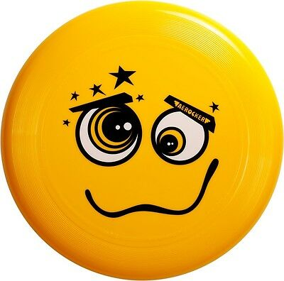 Aerocker - Ultimate Frisbee Flying Disc,  Smile , Yellow 175g • 5.15£