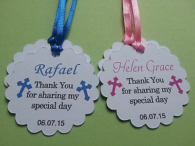 30x Personalised Christening Baptism Favour Gift Tags First Communion Thank You • 4.95£