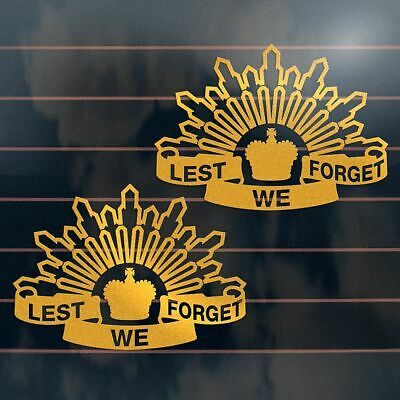 AU7.45 • Buy 2 X LEST WE FORGET ANZAC Stickers 150mm Aussie Army Ute Car Window Decal