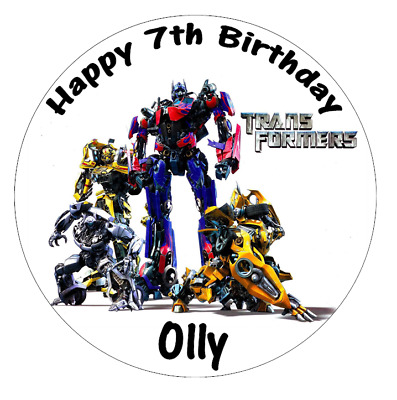 Transformers Personalised Cake Topper 7.5  Edible Wafer Paper • 3£