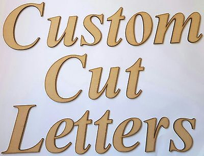 AU11 • Buy Custom Cut Mdf Wooden Letters Wood Fonts Personalised Craft Name Words Shape