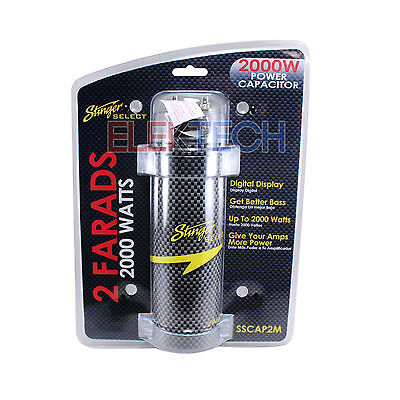 $ CDN55.30 • Buy Stinger Selects SSCAP2M Capacitor 2 Farad 2000W Power Amp Digital Display