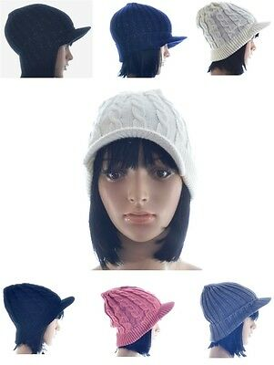 £3.75 • Buy Ladies Winter Warm Knit Knitted Glitter Cable Peak Peaked Beanie Cap Hat (A110)