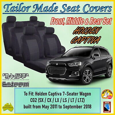 AU178.98 • Buy Tailor Made Car Seat Covers For Holden Captiva (7 Seater) From 03/2011 - Current