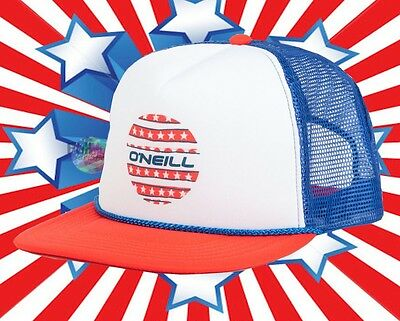 $16.95 • Buy New O'Neill United Star Flag ONeill Combo Trucker Snapback Cap Hat