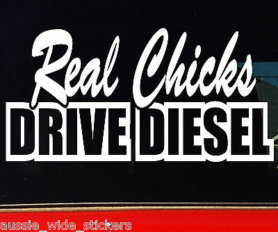 AU6.90 • Buy New 200mm Funny Sexy Cute Girl 4wd BNS Ute Car Stickers REAL CHICKS DRIVE DIESEL