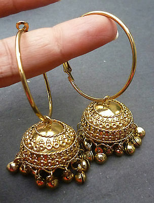 AU14.99 • Buy Indian Bridal Gold Plated South Traditional Earrings Jhumka Ring Jhumki Set .,