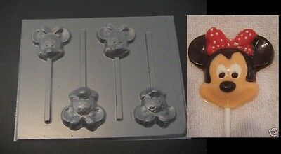MINNIE MOUSE Face Head Chocolate Candy Soap Mold • 3£