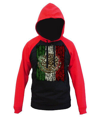 $22.99 • Buy Men's Mexico Flag Raglan Red Hoodie Mexican Sweater Boxing Mma Soccer Pride Cali