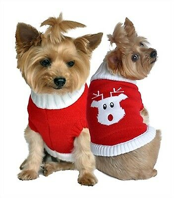 $10.50 • Buy Red Rudolph Holiday & Christmas Dog Sweater ~ Size XS