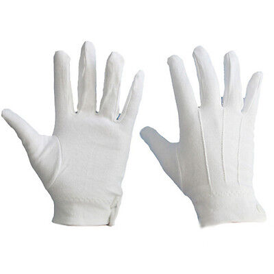 $2.49 • Buy 1 Pair White Formal Gloves Military Parade Thicken Etiquette Inspection Gloves