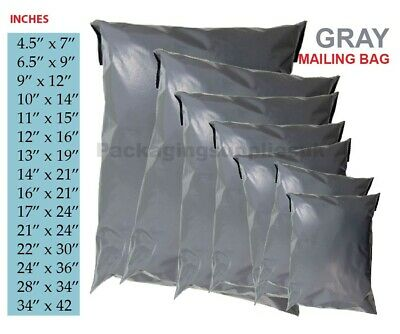£5.62 • Buy Strong Grey Postal Mailing Mixed Bags Poly Postage Mailer Parcel Packing Bags