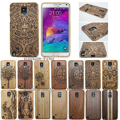 AU16.22 • Buy Real Natural Wood Bamboo Case Back Cover+Film For Samsung Galaxy S9 S8 S7 Note 5