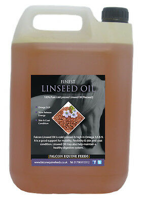 100% Pure Cold Pressed Flax Linseed Oil 5 Litres - Horses, Livestock, Furniture • 18.99£