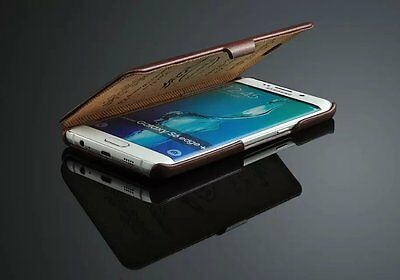 $ CDN24.68 • Buy New Genuine Leather Flip Case Cover For Samsung Galaxy S6 Edge Plus+
