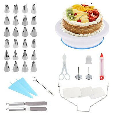 £15.99 • Buy 39 PCS Cake Decorating Tool Kit / Rotating Cake Stand With Spatula & Many More