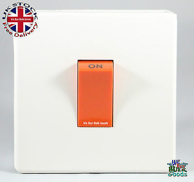 £7.50 • Buy Crabtree Cooker Or Shower 45amp DP Switch 7015/WH Platinum (Screw Less Range)