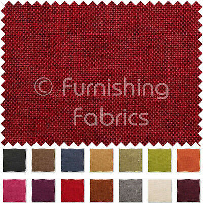 Hard Wearing Durable Linen Effect Chenille Upholstery Curtains Furnishing Fabric • 8.99£