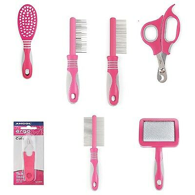 £6.95 • Buy Ancol Cat Grooming Ergo Soft Hair Brush Slicker Comb Moulting Clippers Tick Tool
